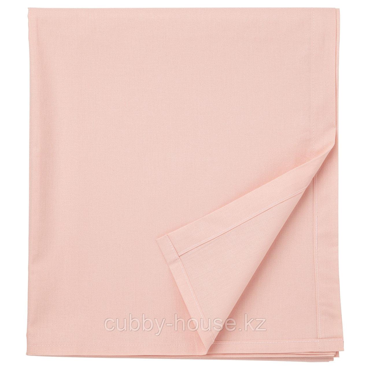 ДВАЛА Простыня, светло-розовый, 240x260 см