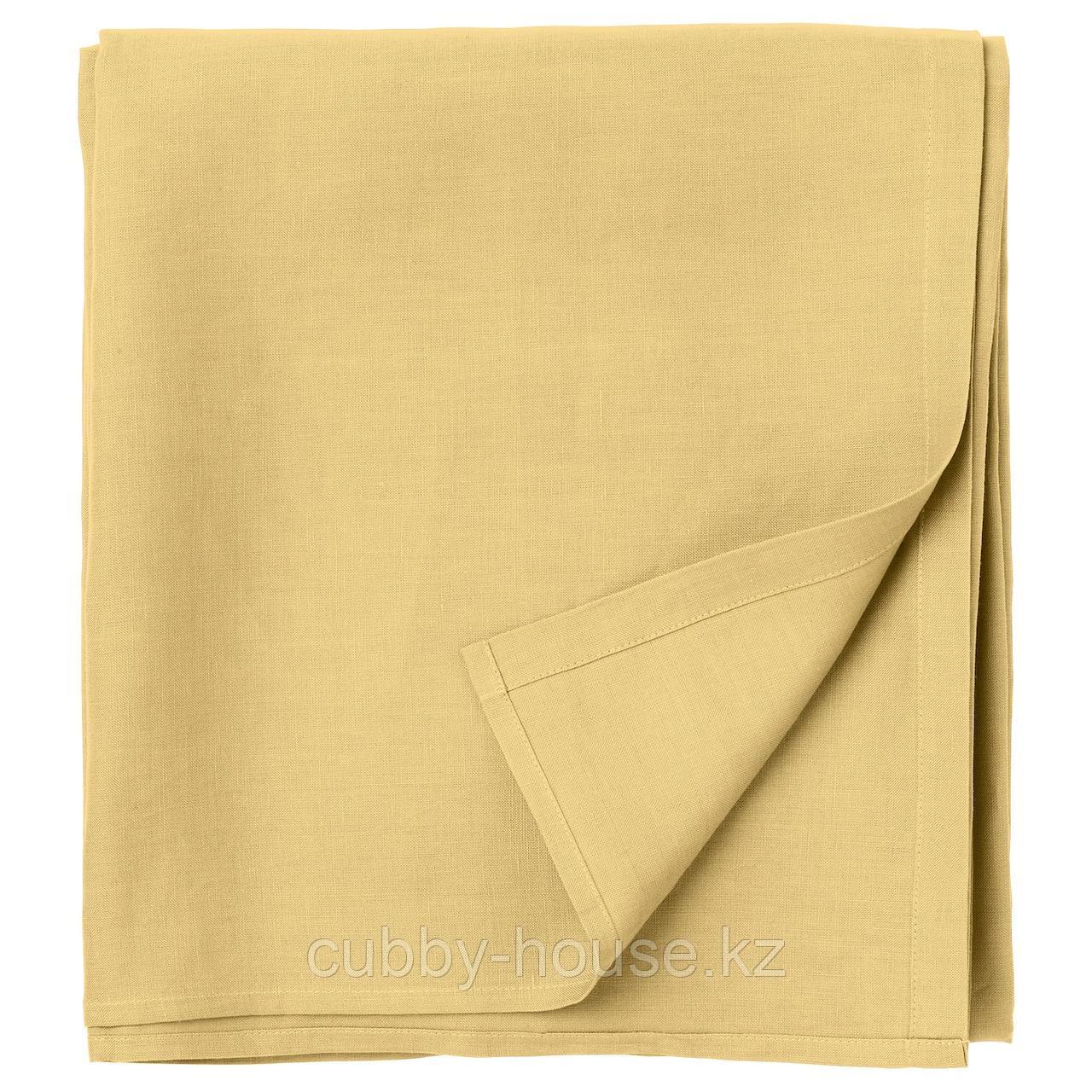 ПУДЕРВИВА Простыня, светло-желтый, 240x260 см