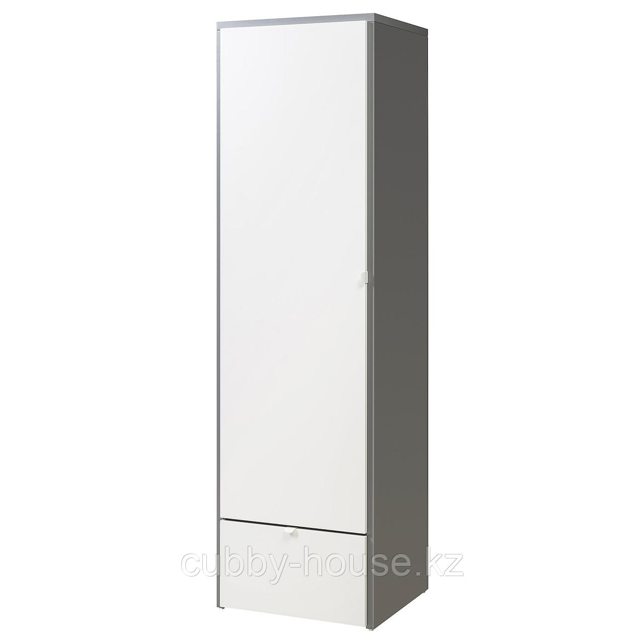 ВИСТХУС Гардероб, серый, белый, 63x59x216 см