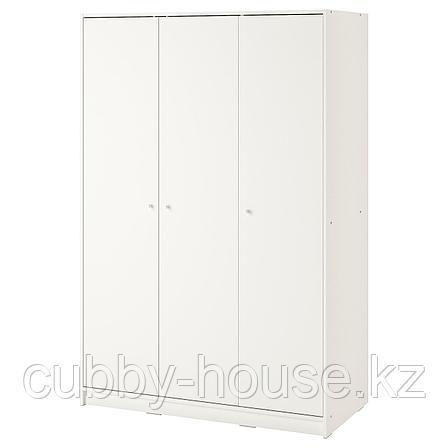КЛЕППСТАД Гардероб 3-дверный, белый, 117x176 см, фото 2