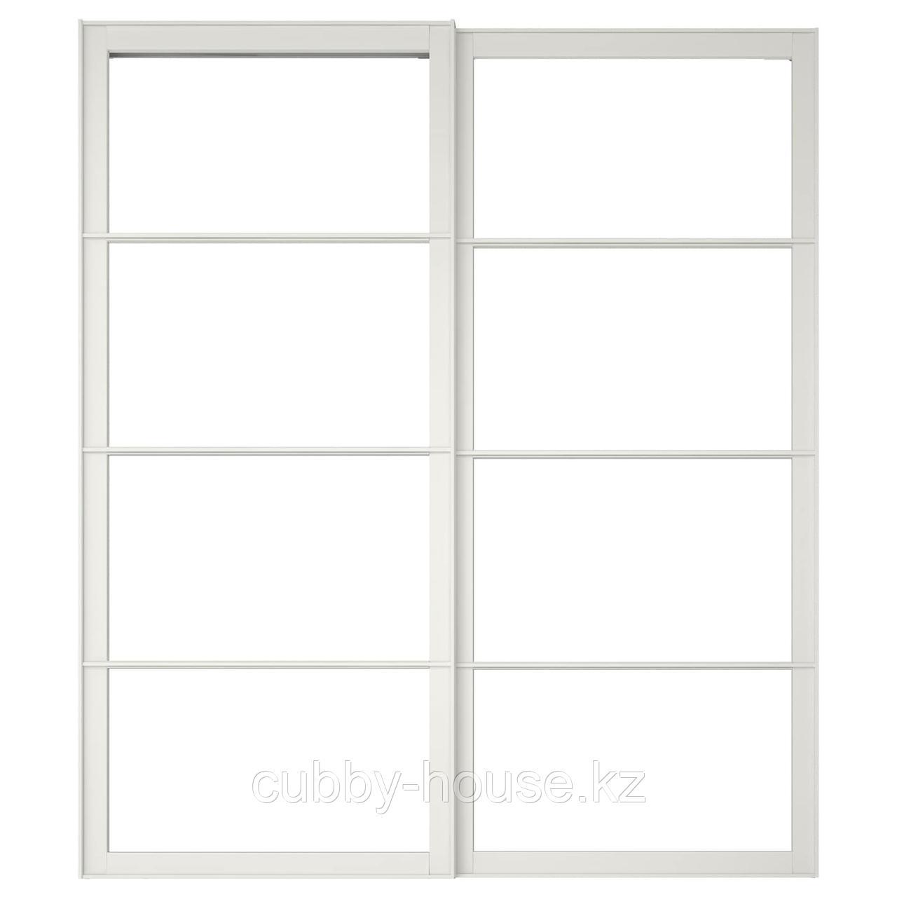 ПАКС Рама д/раздв дврц, с направл, 2 шт, белый, 200x236 см
