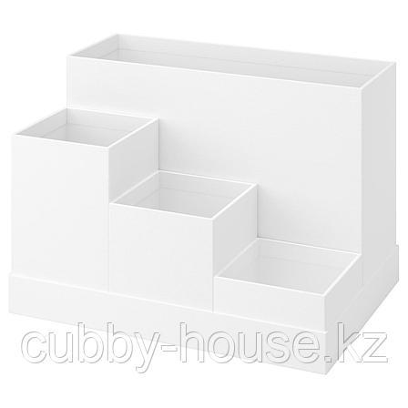 ТЬЕНА Подставка д/канцелярских принадлежн, белый, 18x17 см, фото 2