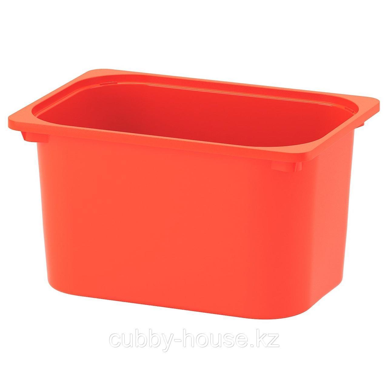 ТРУФАСТ Контейнер, оранжевый, 42x30x23 см