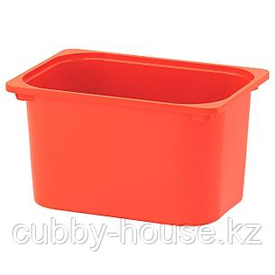 ТРУФАСТ Контейнер, оранжевый, 42x30x23 см, фото 2