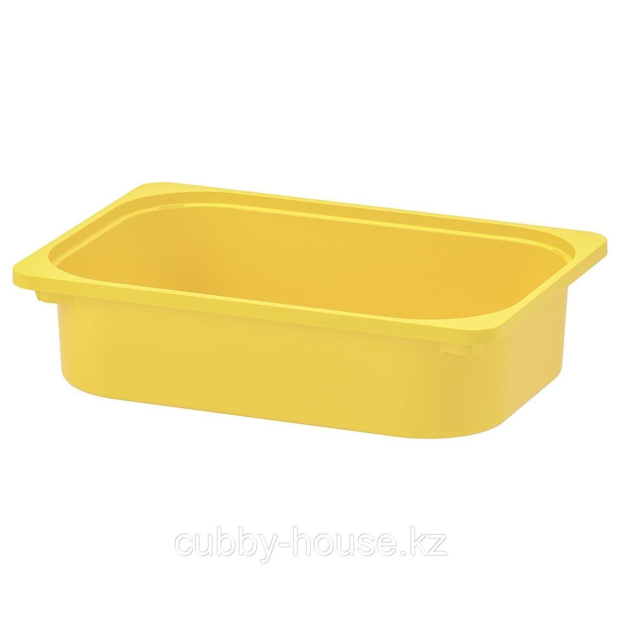 ТРУФАСТ Контейнер, желтый, 42x30x10 см