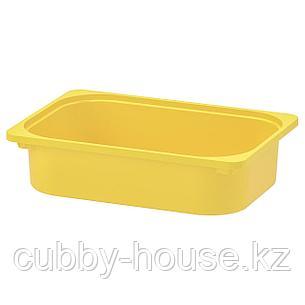 ТРУФАСТ Контейнер, желтый, 42x30x10 см, фото 2