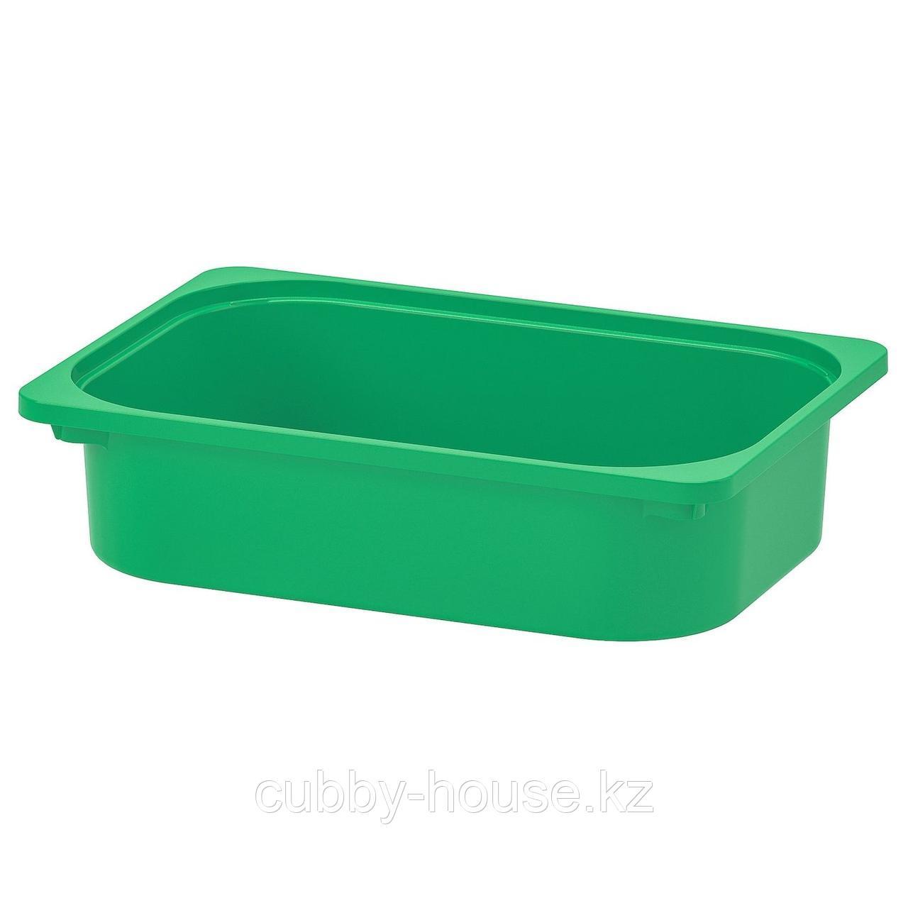 ТРУФАСТ Контейнер, зеленый, 42x30x10 см