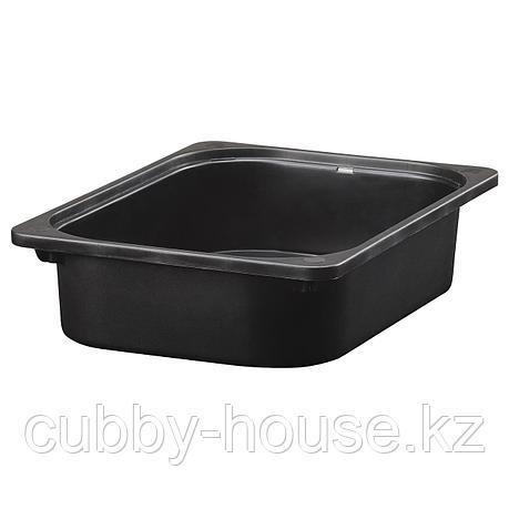 ТРУФАСТ Контейнер, черный, 42x30x10 см, фото 2