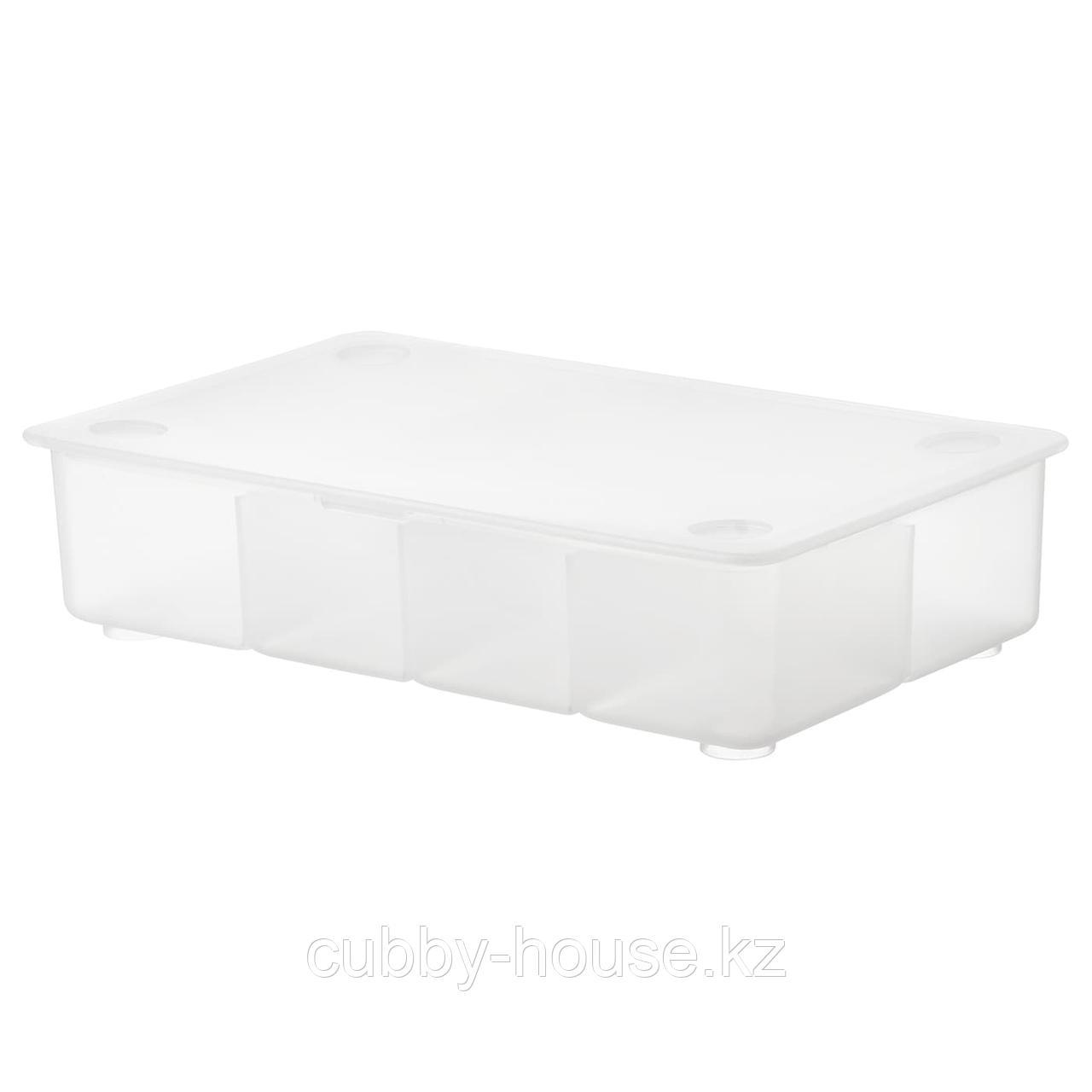 ГЛИС Контейнер с крышкой, прозрачный, 34x21 см