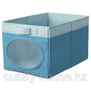 НОЙСЭМ Коробка, синий, 25x37x22 см, фото 2