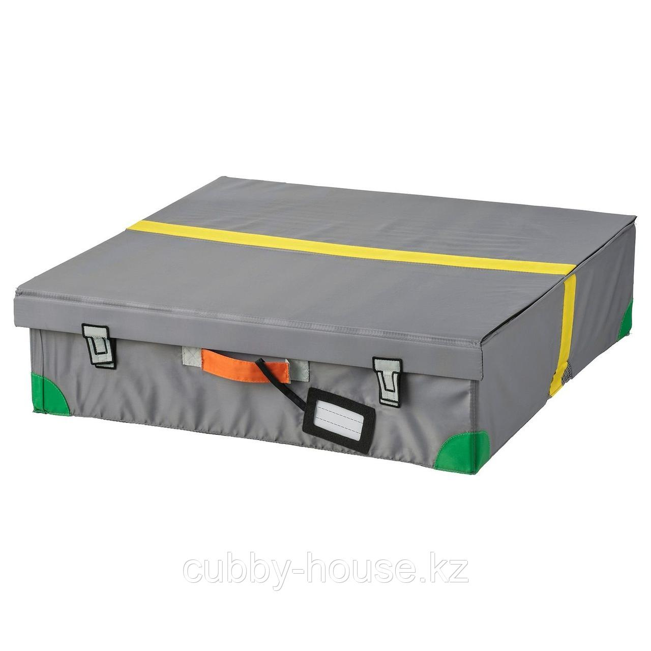 ФЛЮТТБАР Ящик кроватный, темно-серый, 58x58x15 см