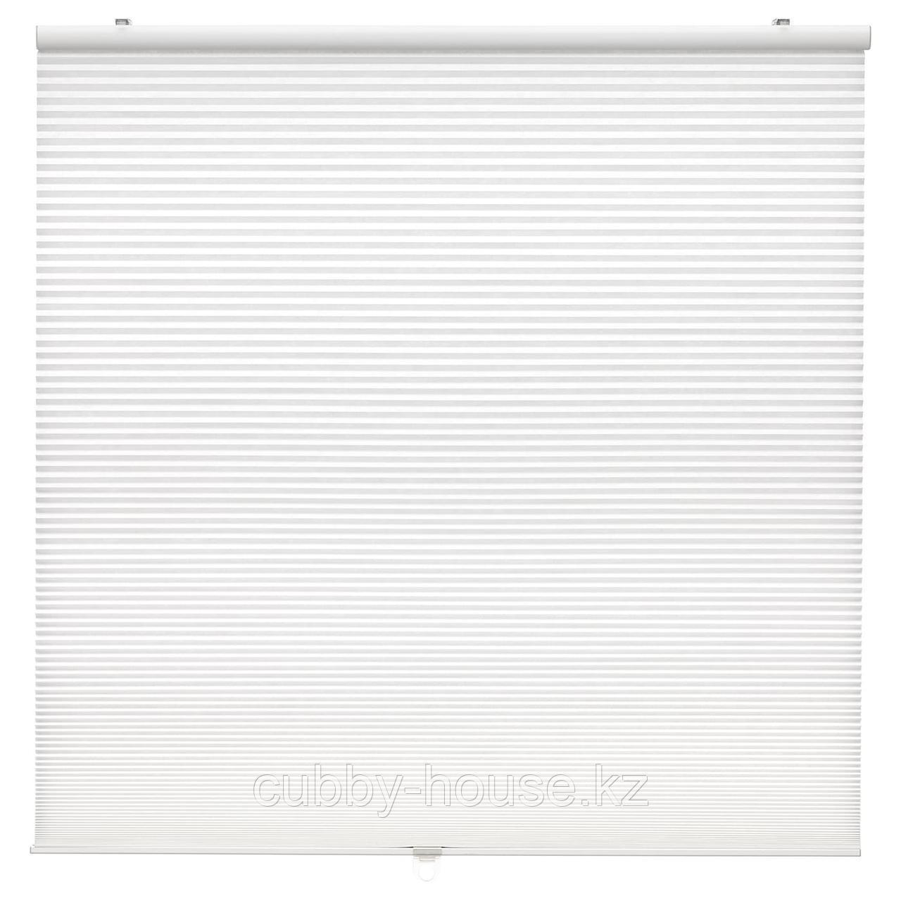 ХОППВАЛС Сотовые жалюзи, белый, 100x155 см