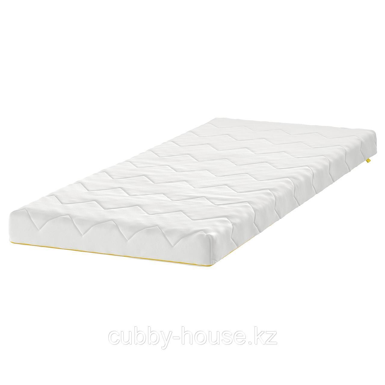 УНДЕРЛИГ Матрас для детской кровати, белый, 70x160 см