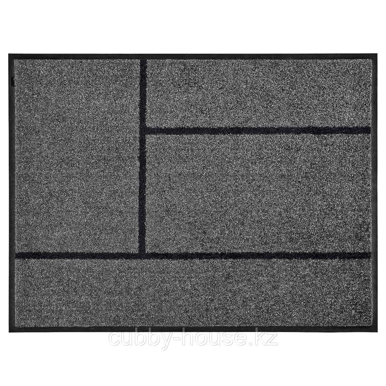 КЁГЕ Придверный коврик, серый, черный, 69x90 см