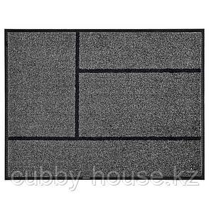 КЁГЕ Придверный коврик, серый, черный, 69x90 см, фото 2