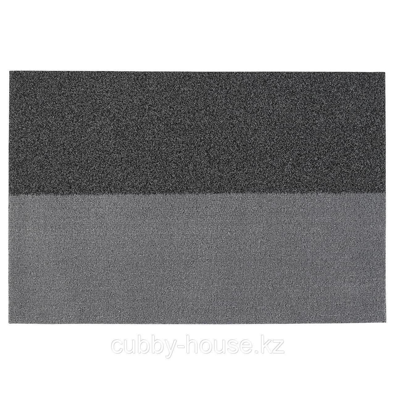 ДЖЕРСИ Придверный коврик, темно-серый, 60x90 см