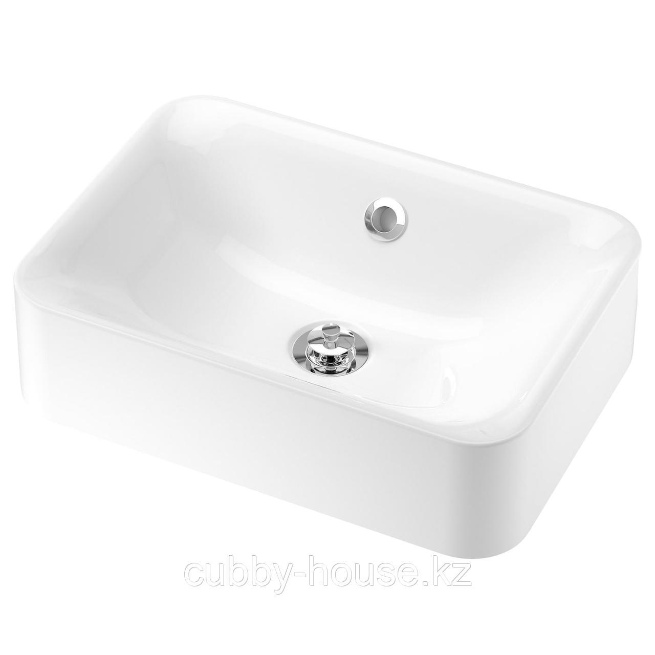 ХОРВИК Накладная раковина, белый, 45x32 см
