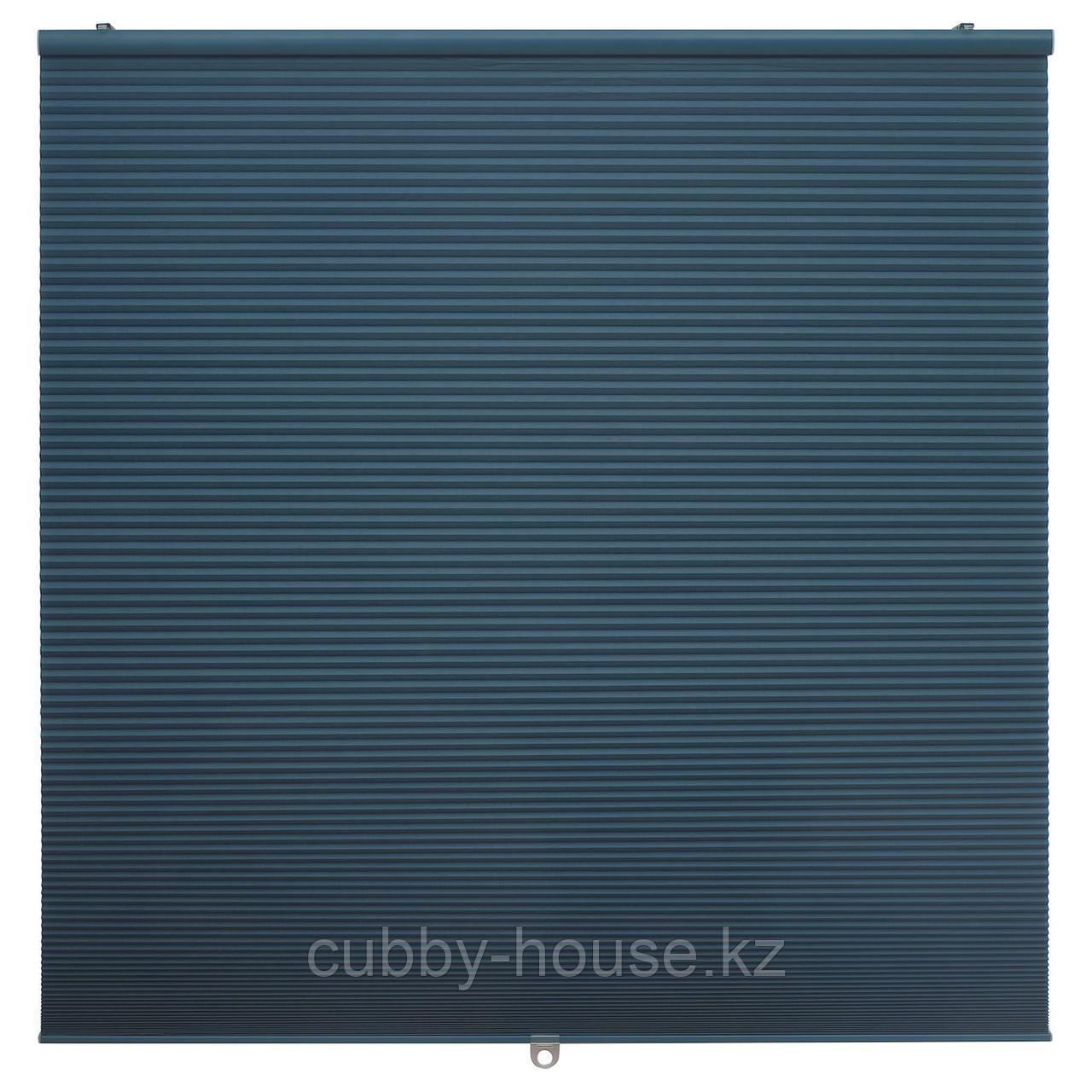 ХОППВАЛС Затемняющие сотовидные жалюзи, синий, 80x155 см