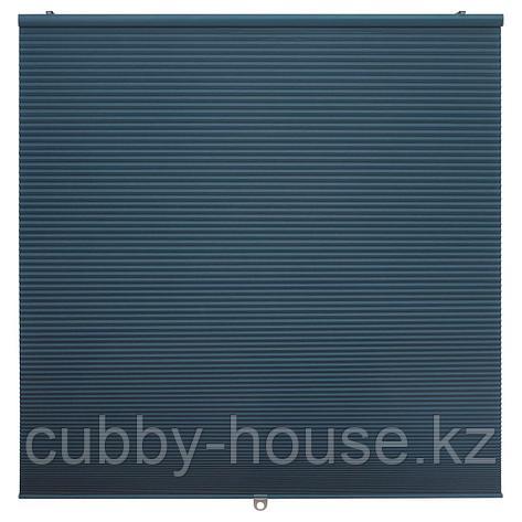 ХОППВАЛС Затемняющие сотовидные жалюзи, синий, 80x155 см, фото 2