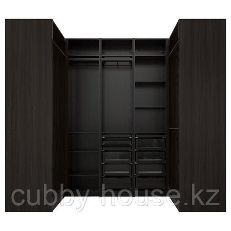ПАКС Гардероб угловой, черно-коричневый, 113/271/113x236 см, фото 2