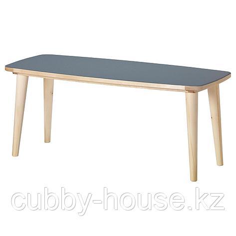 ОМТЭНКСАМ Журнальный стол, антрацит, береза, 115x60 см, фото 2