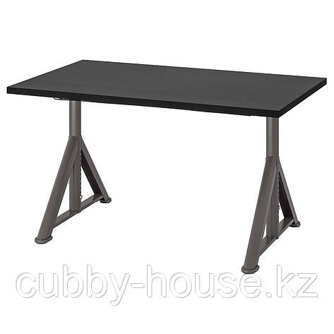ИДОСЕН Письменный стол, черный, темно-серый, 120x70 см, фото 2