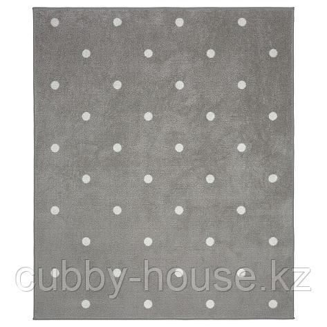 ЛЕН Ковер, точечный, серый, 133x160 см, фото 2