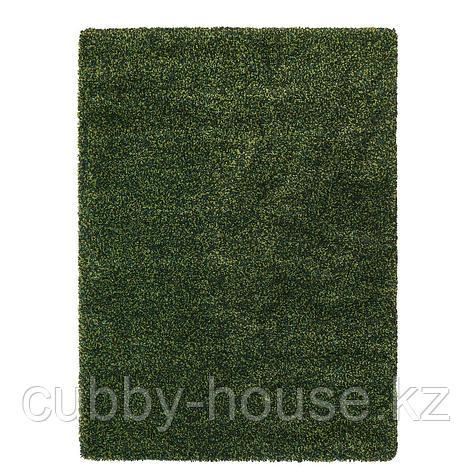 ВИНДУМ Ковер, длинный ворс, зеленый, 133x180 см, фото 2