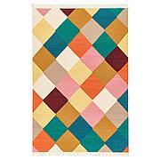ВИНДЕРЁД Ковер безворсовый, ручная работа разноцветный, 133x195 см