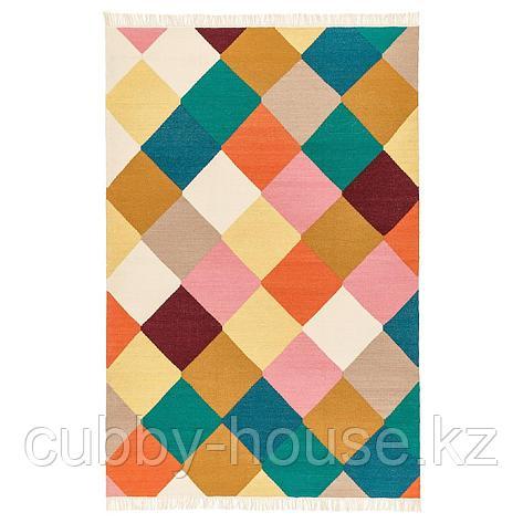ВИНДЕРЁД Ковер безворсовый, ручная работа разноцветный, 133x195 см, фото 2