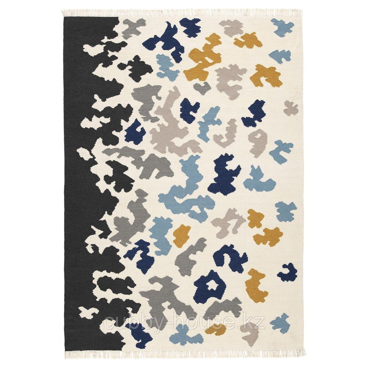 ВИДЕБЭК Ковер безворсовый, разноцветный ручная работа, разноцветный, 133x195 см