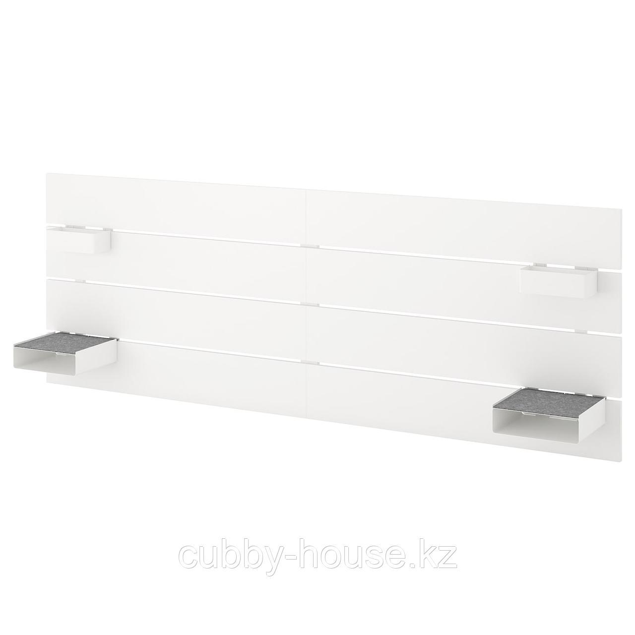 НОРДЛИ Изголовье, белый, 180/193 см