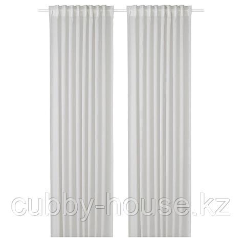 ГУНРИД Гардины, очищающие воздух, 1 пара, светло-серый, 145x300 см, фото 2