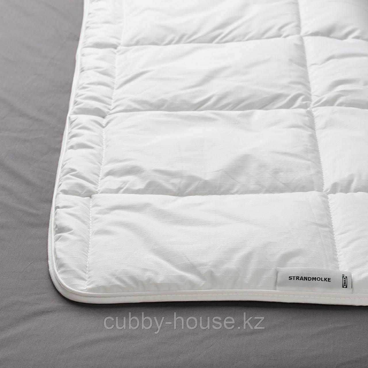 СТРАНДМОЛКЕ Одеяло легкое, 200x200 см