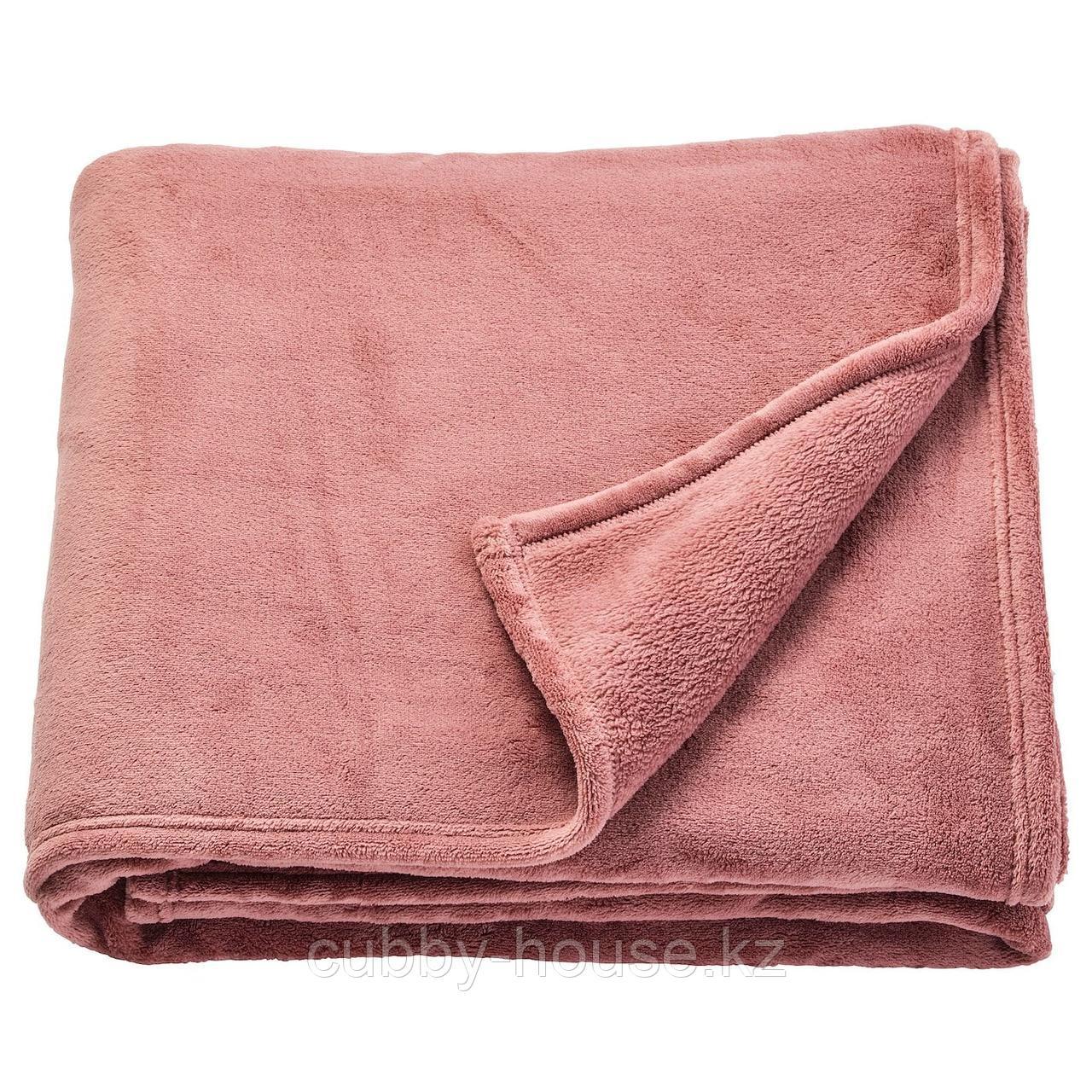 ТРАТТВИВА Покрывало, темно-розовый, 230x250 см