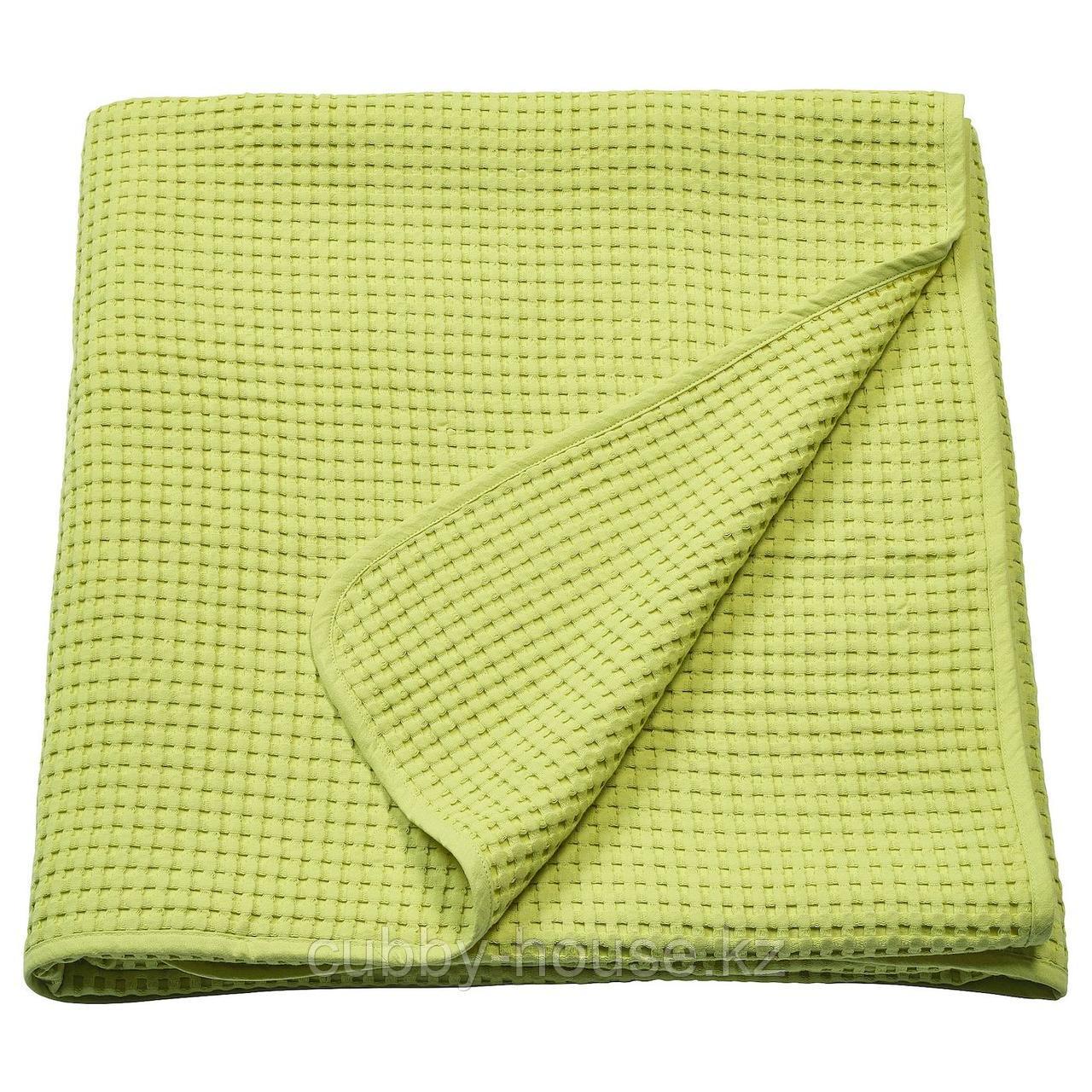 ВОРЕЛЬД Покрывало, светло-зеленый, 230x250 см