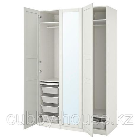ПАКС / ТИССЕДАЛЬ Гардероб, комбинация, белый, зеркальное стекло, 150x60x236 см, фото 2