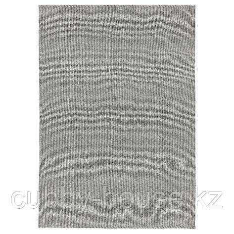 ТИПХЕДЕ Ковер безворсовый, серый, белый, 155x220 см, фото 2