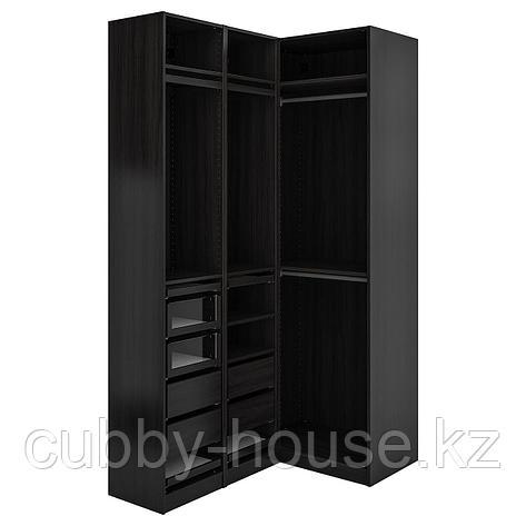 ПАКС Гардероб угловой, черно-коричневый, 160/88x236 см, фото 2