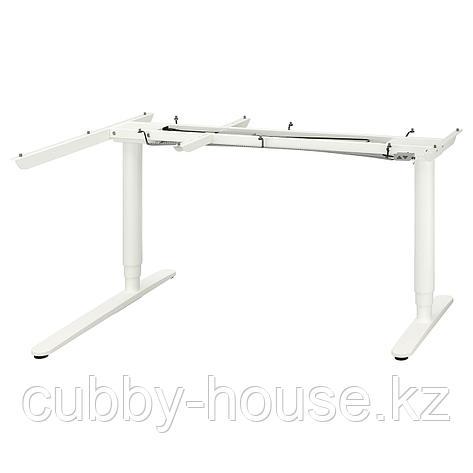 БЕКАНТ Угловой стол-трансформер,электр, белый, 160x110 см, фото 2