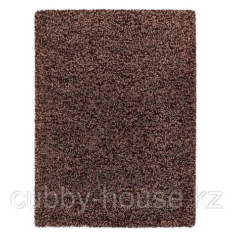 ВИНДУМ Ковер, длинный ворс, коричневый, 170x230 см, фото 2