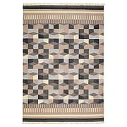 ТОРБЭК Ковер безворсовый, ручная работа, серый/бежевый, 170x240 см