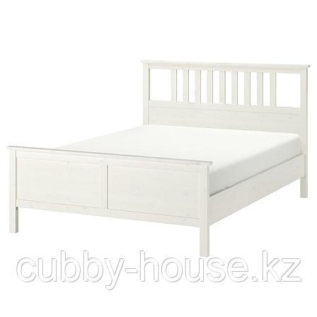 ХЕМНЭС Каркас кровати, белая морилка, 160x200 см, фото 2