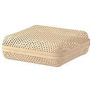 СМАРРА Коробка с крышкой, естественный, 30x30x10 см