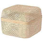 СМАРРА Коробка с крышкой, естественный, 30x30x23 см