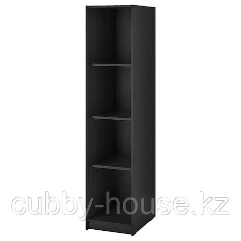 РАККЕСТАД Открытый гардероб, черно-коричневый, 39x176 см, фото 2