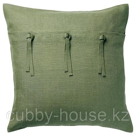 АЙНА Чехол на подушку, зеленый, 50x50 см, фото 2