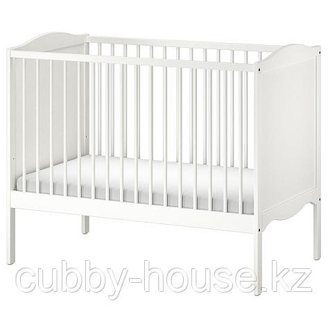 СМОГЁРА Кроватка детская, белый, 60x120 см, фото 2