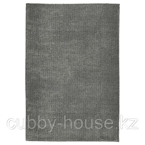 ЛАНГСТЕД Ковер, короткий ворс, светло-серый, 60x90 см, фото 2