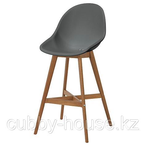 ФАНБЮН Барный стул для дома/сада, серый, 64 см, фото 2